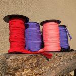 Coloured Lycra reels